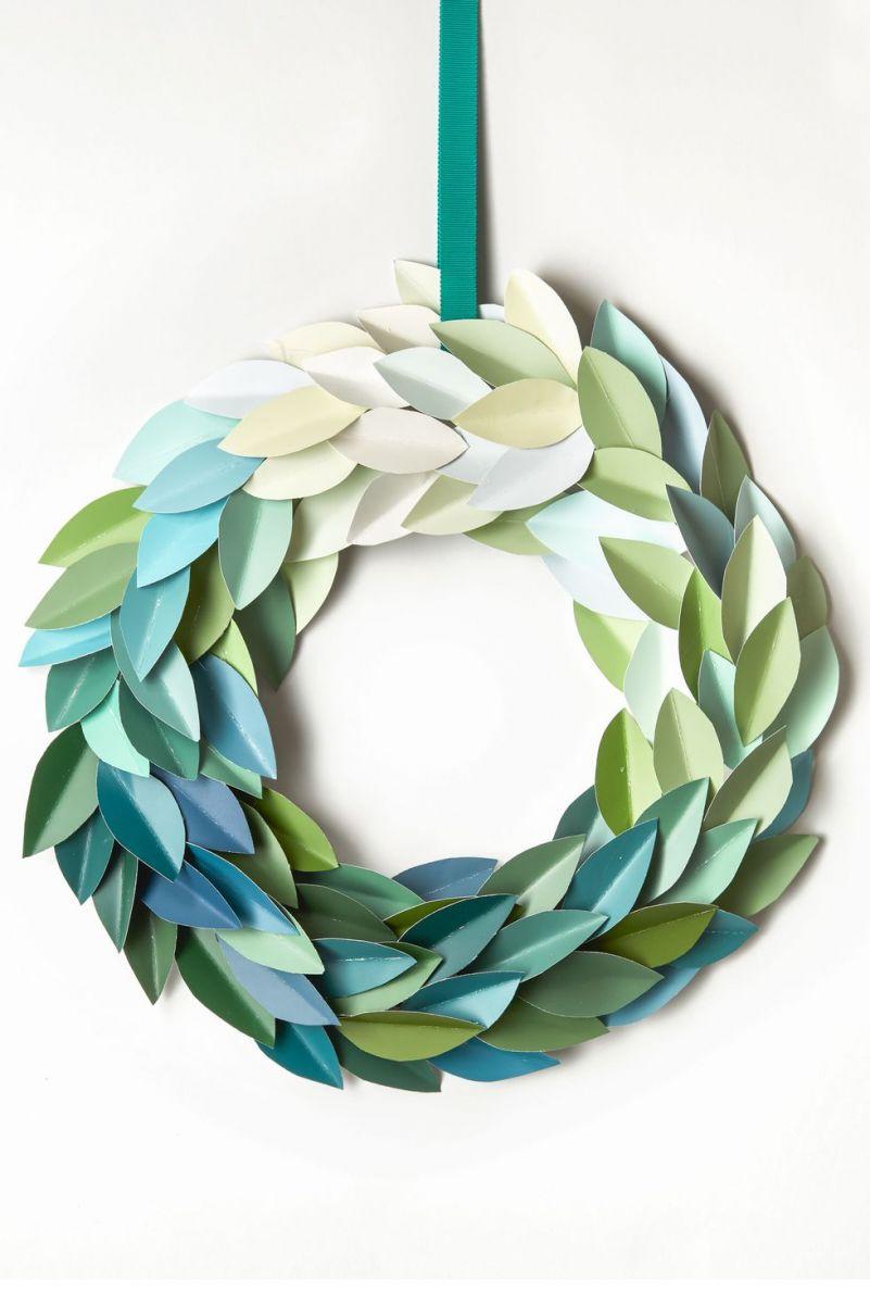 diy-paint-chip-christmas-wreath