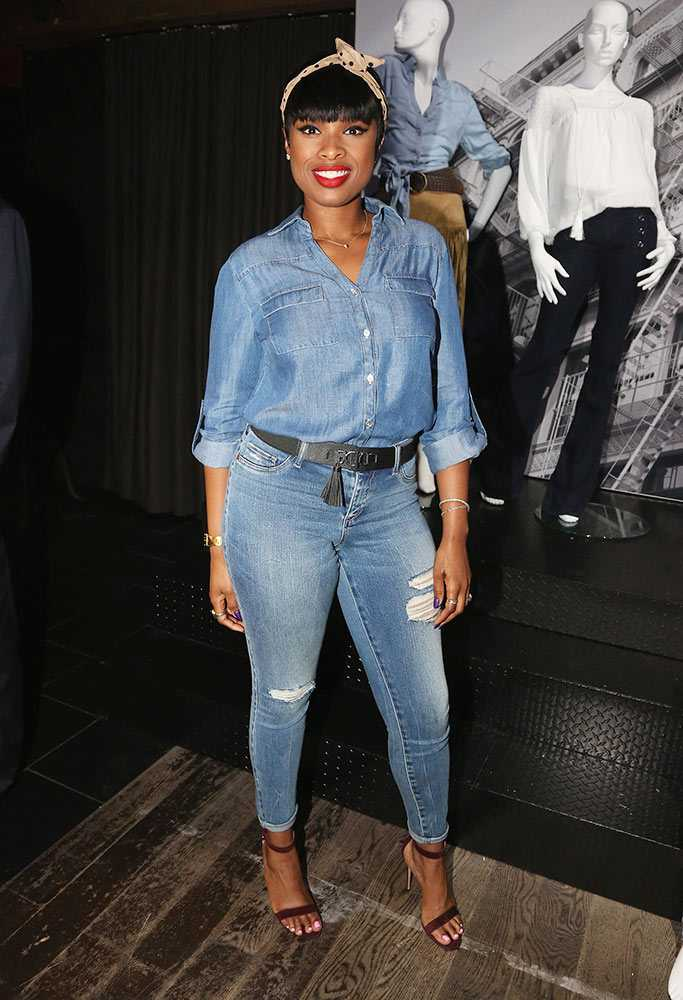 jennifer-hudson-celebrities-wearing-double-denim-july-2015-getty-gallery large