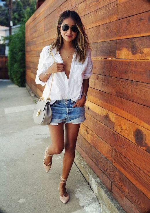 Le-Fashion-Blog-White-Shirt-Denim-Shorts-Sandals-Via-Sincerely-Jules