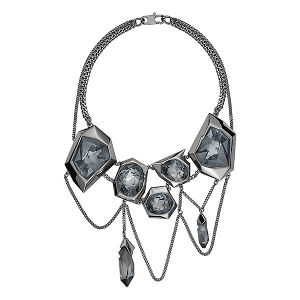 jean paul gaultier reverse necklace silver night