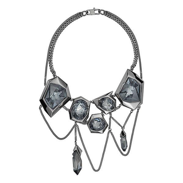 jean paul gaultier reverse necklace silver night