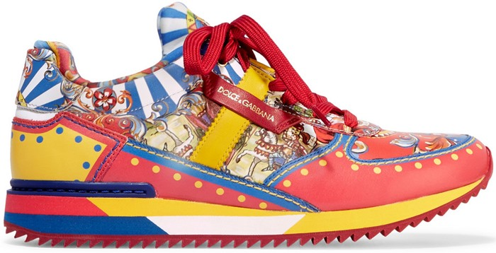 Dolce-Gabbana-Printed-leather-sneaker