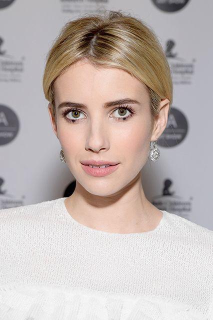 dotted eyeliner emma roberts