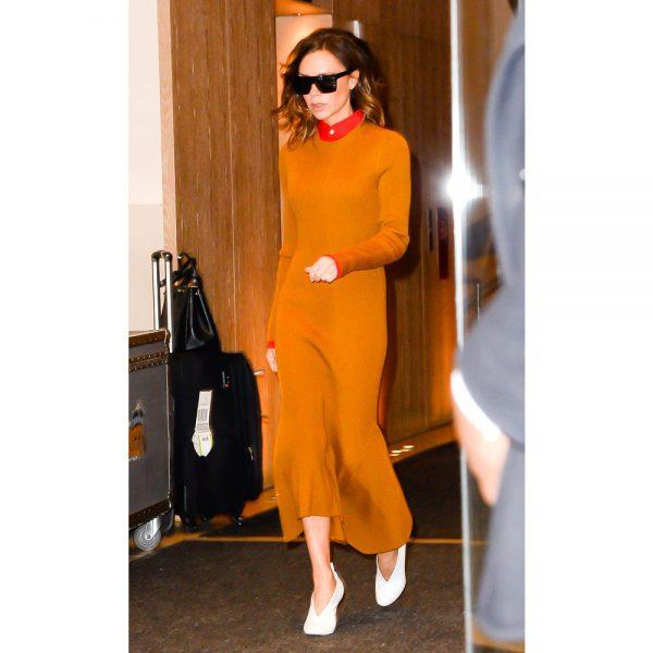 Victoria-Beckham-Orange-Dress-1000-600x600