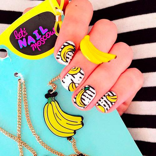 banana nails 7