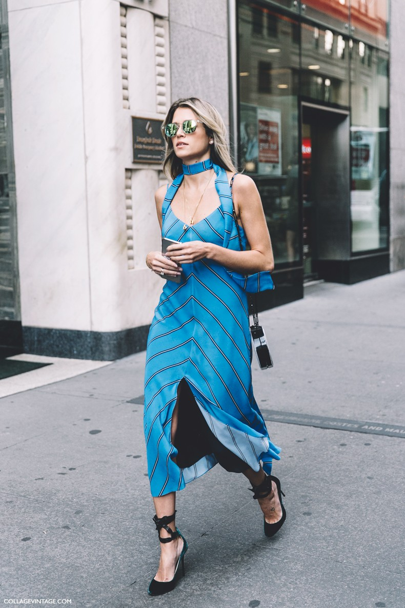 New_York_Fashion_Week-Spring_Summer-2016-Street-Style-Helena_Bordon-Striped_Dress-Jimmy_Choo_Shoes--790x1185