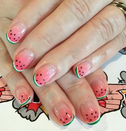watermelon nails 1