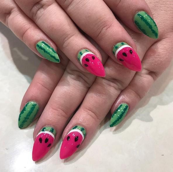 watermelon nails 11