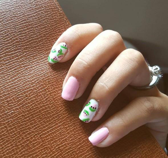 watermelon nails 12