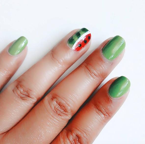 watermelon nails 2