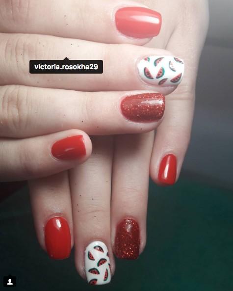 watermelon nails 4