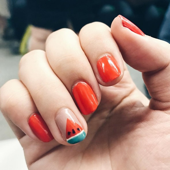 watermelon nails 8