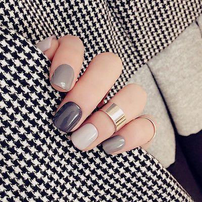 grey nails 8