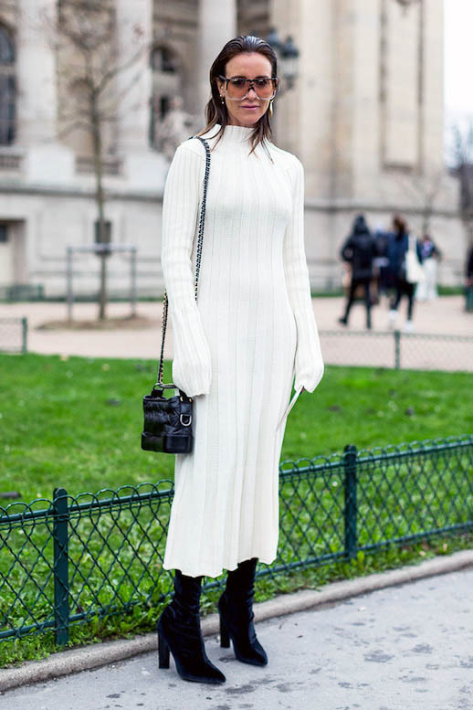 Le-Fashion-Blog-Winter-Whites-Sunglasses-White-Midi-Sweater-Dress-Black-Crossbody-Bag-Black-Boots-Amanda-Oracle-Fox-Via-Harpers-Bazaar