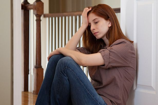 A depressed Young Woman