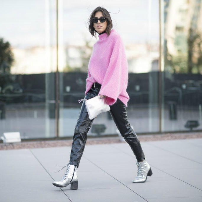 Cool-Leather-Leggings-Bright-Pink-Sweater