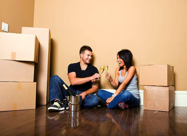Couple-celebrating-moving-in