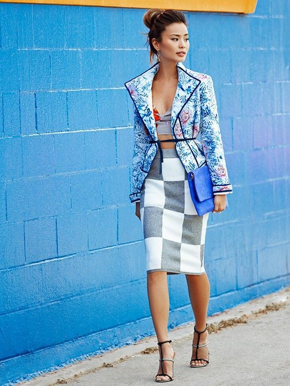 mixed-prints-gorgeous-outfit