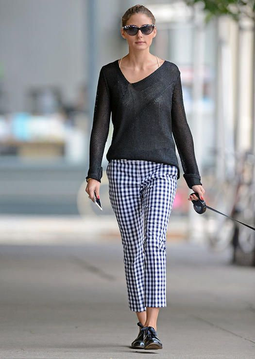 olivia-palermo-classic-checked-pants-sweater