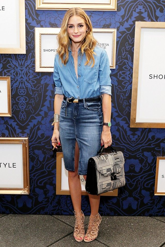olivia palermo denim skirt