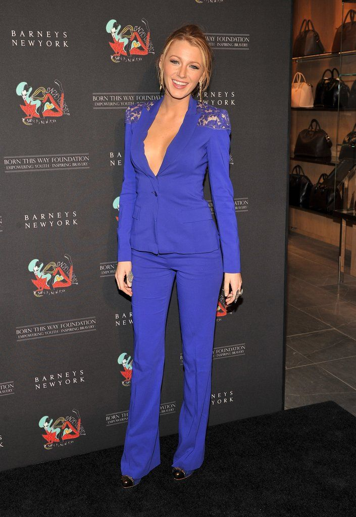 Blake-Lively-looked-long-lean-blue-pantsuit