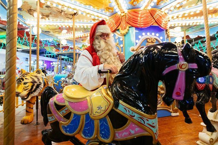 low carousel santa 2