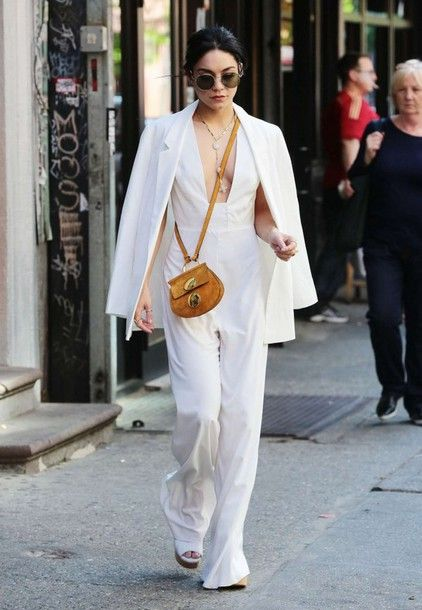 xjzb9p-l-610x610-jumpsuit--blazer-white-vanessa+hudgens-plunge+v+neck-pants-jacket-white+celebrity-white+outfit