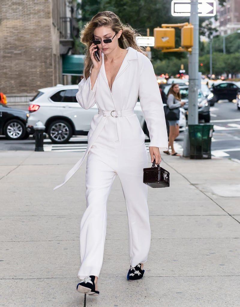 Gigi-Also-Wore-White-Tamuna-Ingorokva-Jumpsuit-Stalvey-Bag