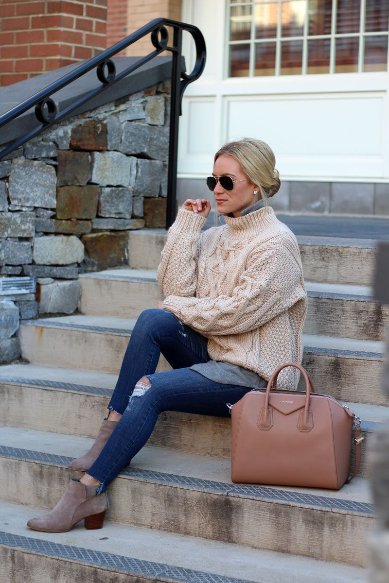 Chicwish-Cableknit-Sweater-Abercrombie-Jeans-Winter-Style-Winter-Layers-Blogger-Style-Cusp-Givenchy-Antigona-Satchel