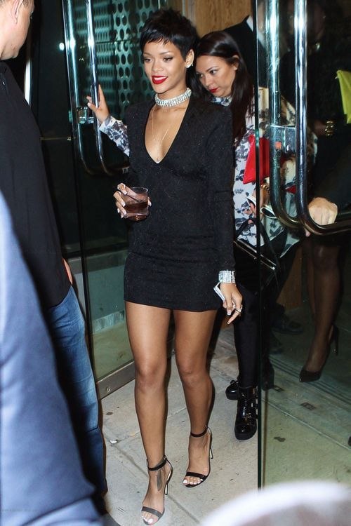 4c3a894f-rihanna-style-dress-balmain-fitted-v-neck-black-mini-dress-2
