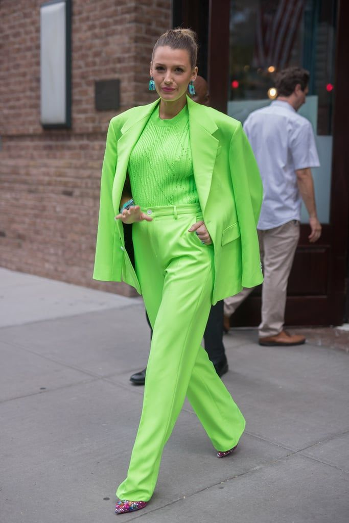 Blake-Lively-Green-Versace-Suit