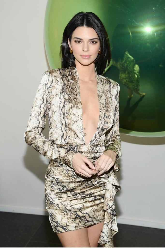 Kendall-Jenner-Python-Print-Dress-Hailey-Baldwin
