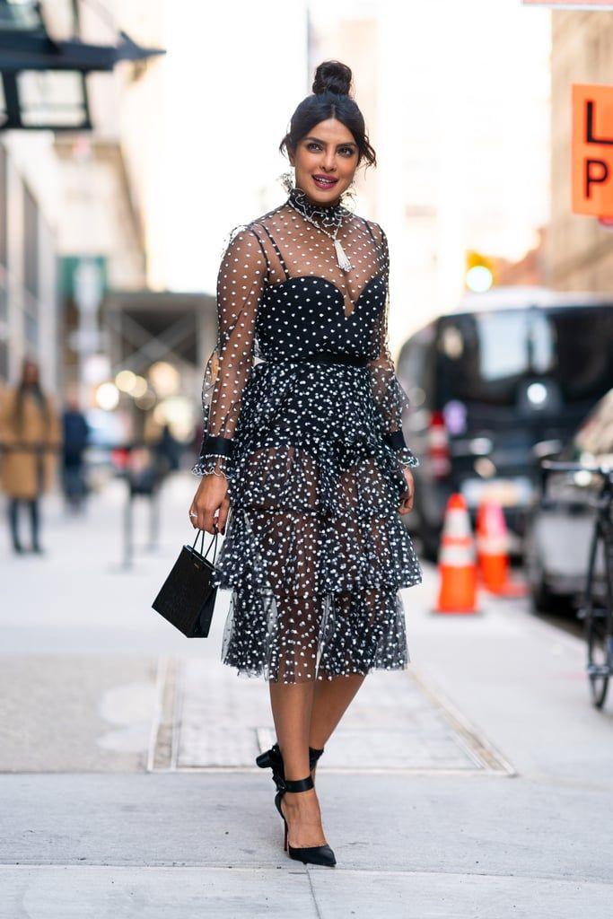 Priyanka-Chopra-Sheer-Polka-Dot-Dress (2)