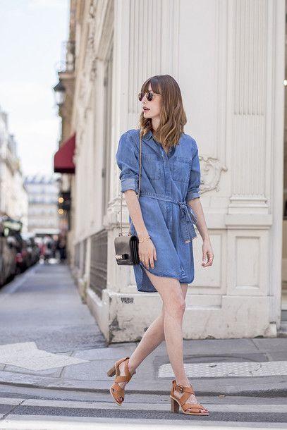 8cshn5-l-610x610-closet-blogger-dress-bag-sunglasses-shoes-denim+dress